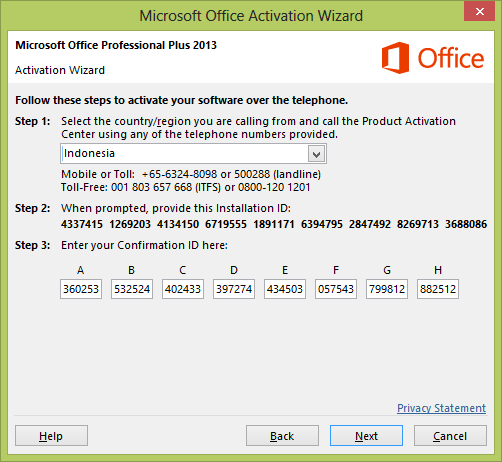 Microsoft Office Home And Student 2007 Activation Wizard